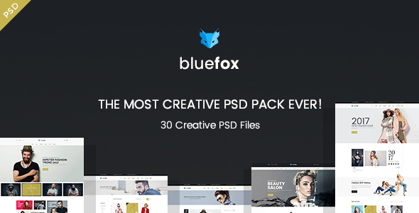 bluefox – eCommerce PSD Template - Shopping Retail