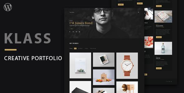 Image of Klass | Dark Minimal Portfolio WordPress Theme