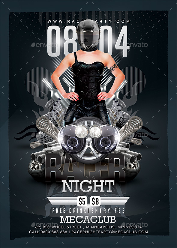 GraphicRiver Racer Mechanics Night 20655298