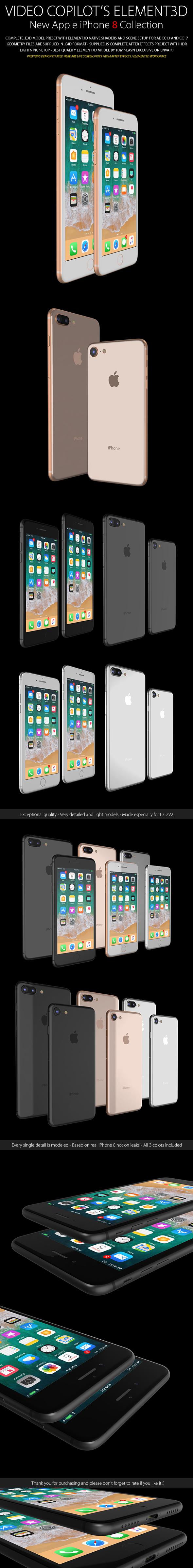 Element3D - iPhone 8 / 8 Plus Collection