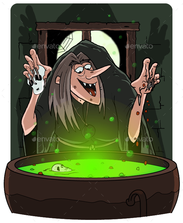 GraphicRiver Witch Cooking Potion 20669767
