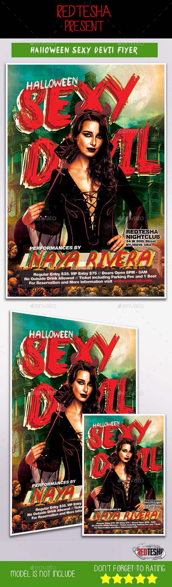 Halloween Sexy Devil - Events Flyers