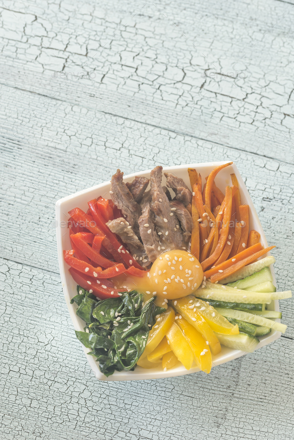 Bowl of bibimbap - Stock Photo - Images