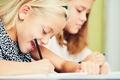 Girls writing homework - PhotoDune Item for Sale