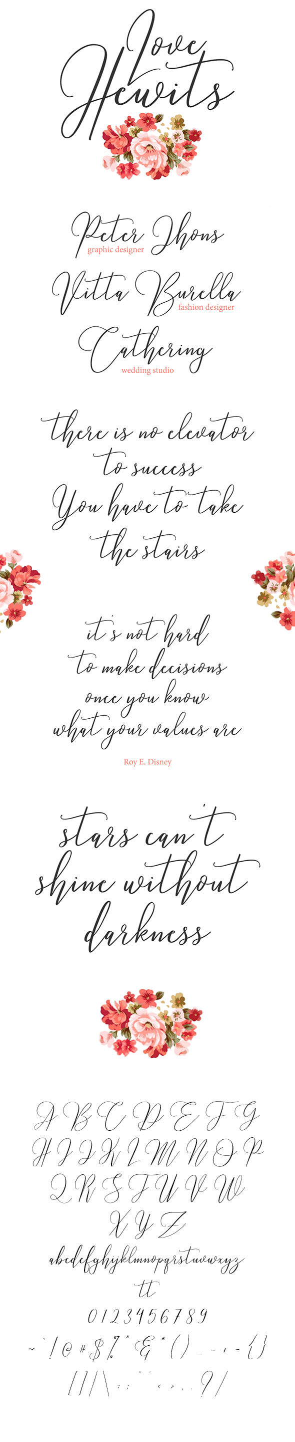 Love Hewits Typeface - Calligraphy Script