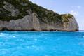 Rocky coast of Zakynthos Islands in Greece