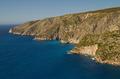 Greek Island of Zakynthos under blue sky