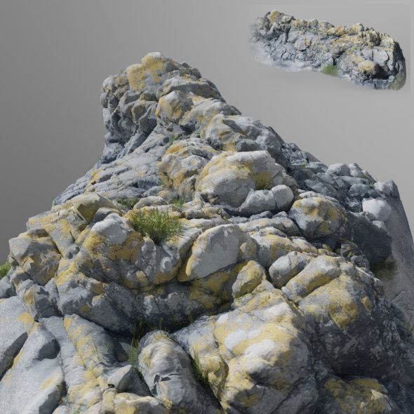3DOcean 3D scanned stone cliff 20676773