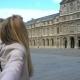 Follow Me Paris Happy Woman Leading Her Boyfriend to Louvre - VideoHive Item for Sale