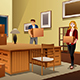 Young Couple Carrying Boxes During House Moving - GraphicRiver Item for Sale