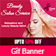 Beauty Salon Animated Gif Banner