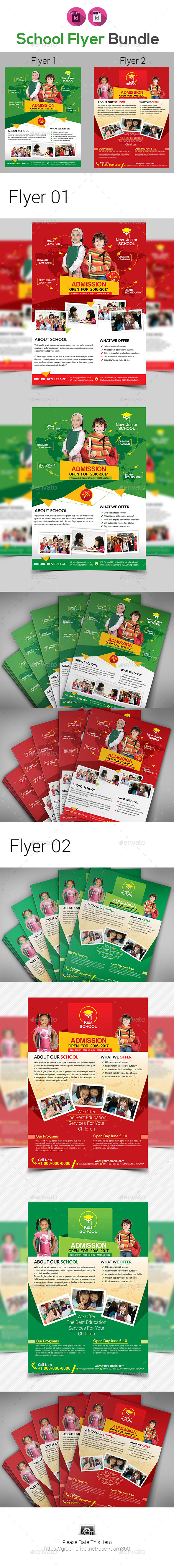GraphicRiver School Flyer Bundle Template 20676926