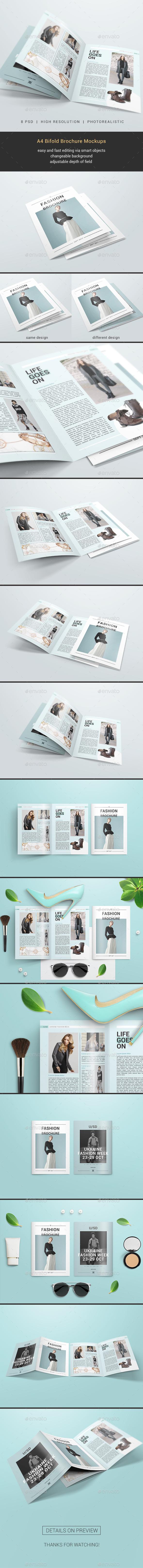 GraphicRiver A4 Bifold Brochure Mockups 20676960