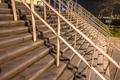 Wide stairs at stadium