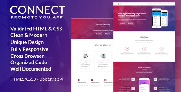 Connect App Landing Page - Landing Pages Marketing