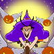 Witch and  Flying Pumpkins