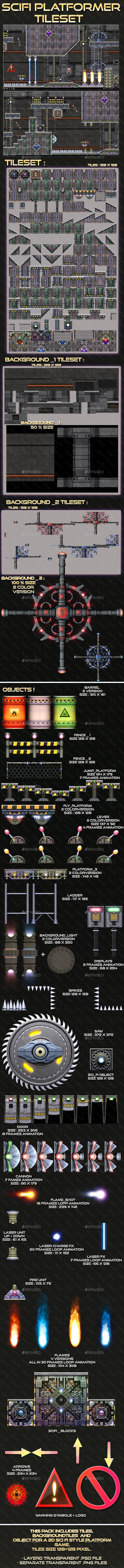 GraphicRiver Sci-fi Platform Tileset 20677306