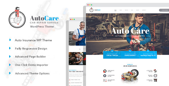 AutoCare - Auto Service WordPress Theme - Business Corporate