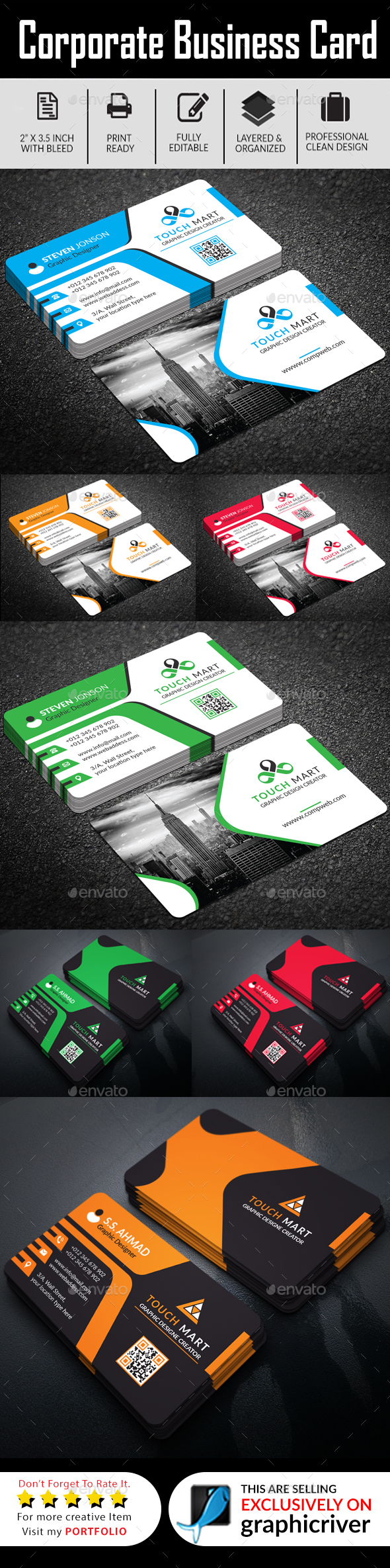 Business Card Bundle (Ai & Eps) by Graphic-Forest | GraphicRiver