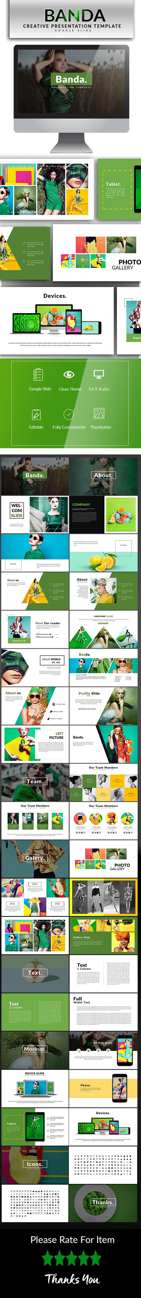 Banda Google Slide Template - Google Slides Presentation Templates