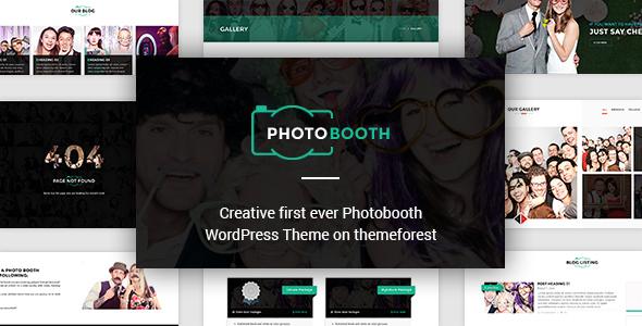 PhotoBooth - Photo Booth WordPress Theme