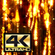 Abstract Dark Gold Digital Particle Rain Background 4K