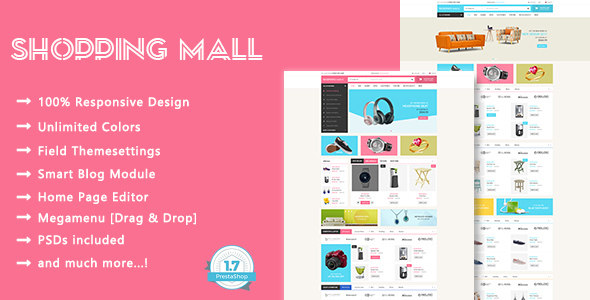 Shopping Mall – SuperMarket Responsive Prestashop 1.7 Theme