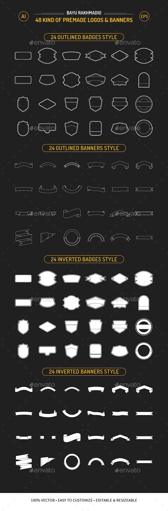 GraphicRiver 48 Kind of Premade Logo & Banner 20677832