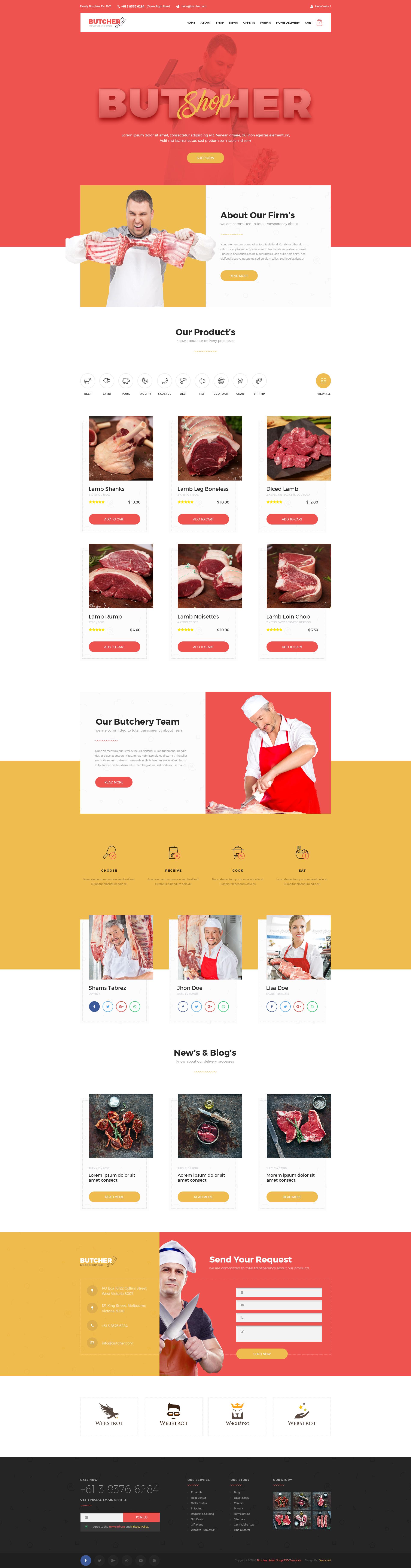 Butcher - Meat Shop eCommerce OpenCart Theme - 1