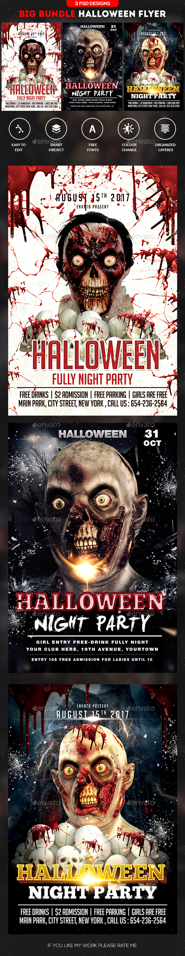 Halloween Flyer Bundle - Events Flyers