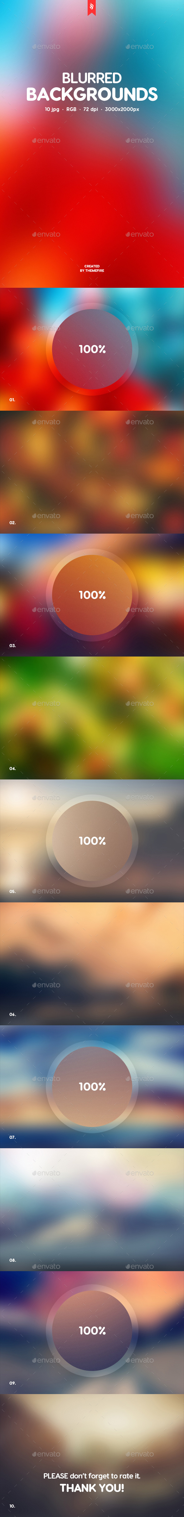 10 Blurred Backgrounds - Backgrounds Graphics