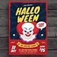 Halloween Horror Clown Festival Flyer