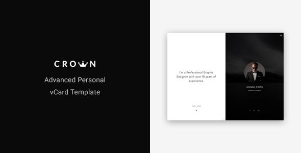 Crown - Advanced Personal vCard Template