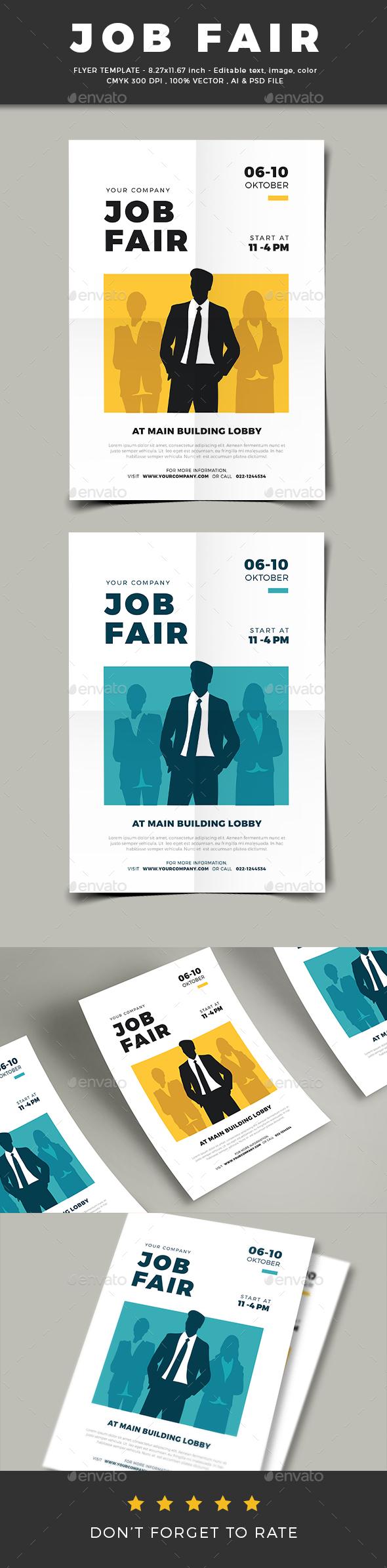 GraphicRiver Job Fair Flyer 20678173