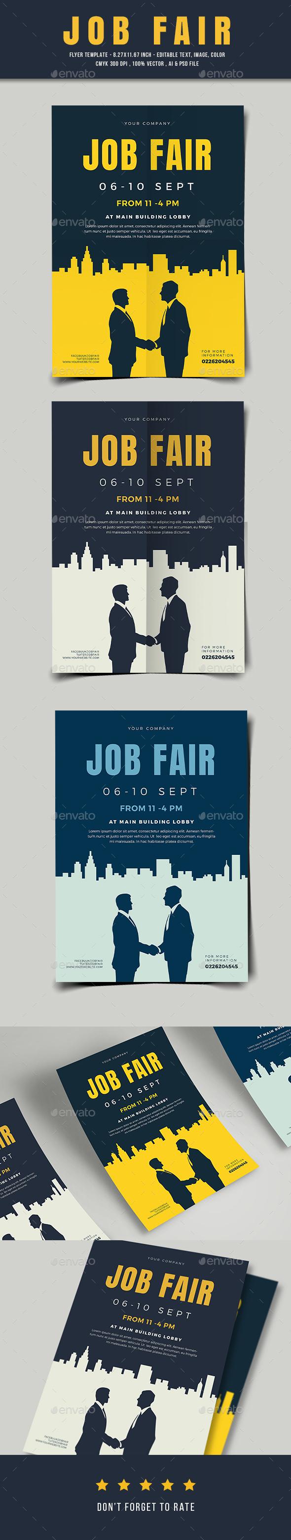 GraphicRiver Job Fair Flyer 03 20678194