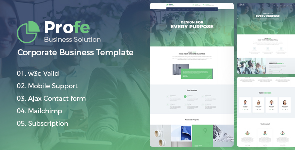 Profe - Corporate Business HTML Template