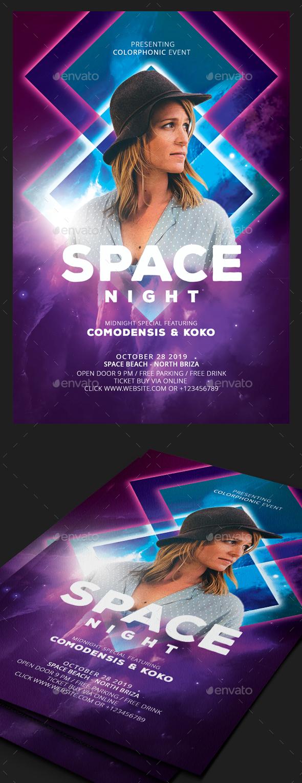 GraphicRiver Space Guest Dj Flyer 20678263