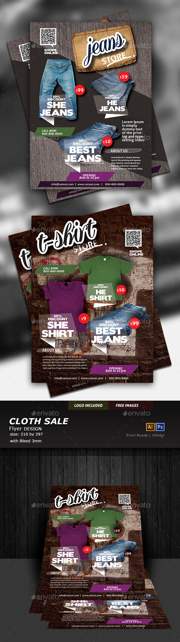 T-shirt Flyer - Commerce Flyers