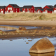 Red wooden houses near Marjaniemi beach, Hailuoto island. Finland. Travel - PhotoDune Item for Sale