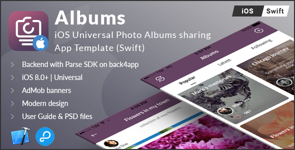 Albums | iOS Universal Photo Albums Sharing App Template (Swift) - CodeCanyon Item for Sale