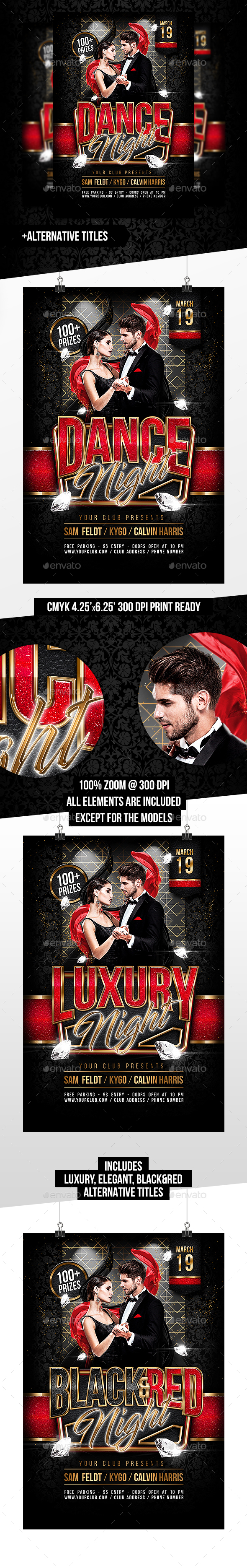 GraphicRiver Dance Luxury Elegant Night Multiple Title Options 20661251