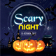 Scary Night - Halloween PSD Flyer - GraphicRiver Item for Sale
