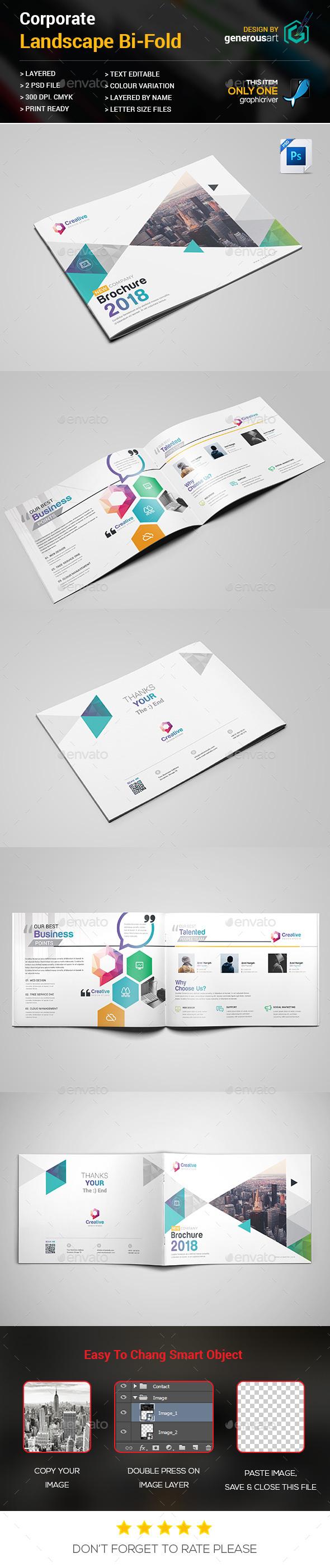 Landscape Bi-Fold Template - Corporate Brochures