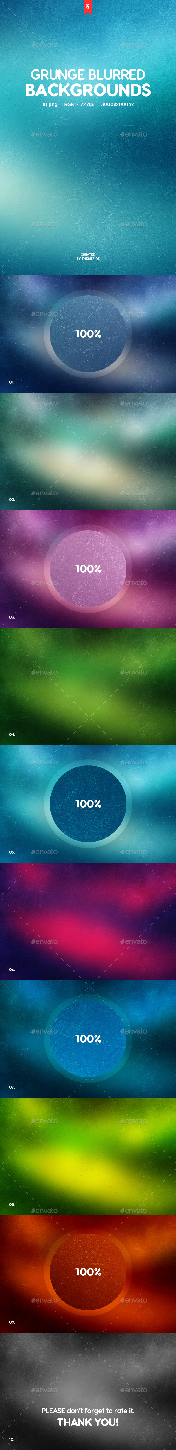 Grunge Blurred Backgrounds - Backgrounds Graphics