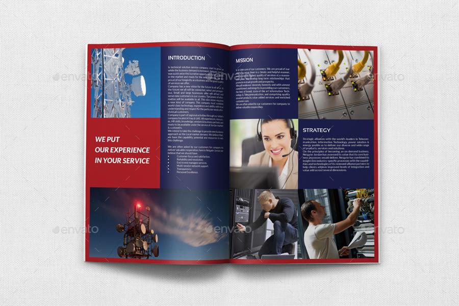 Telecom Services Brochure Bundle Template by OWPictures | GraphicRiver