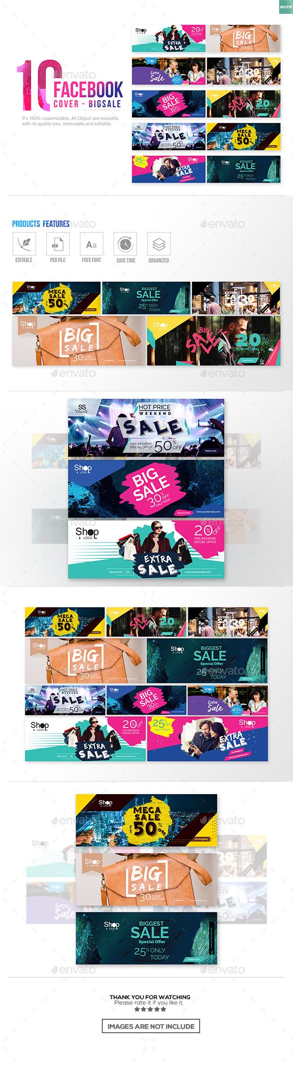 10 Facebook Cover-Big Sale - Facebook Timeline Covers Social Media
