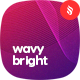 Abstract Bright Network Wavy Backgrounds - GraphicRiver Item for Sale