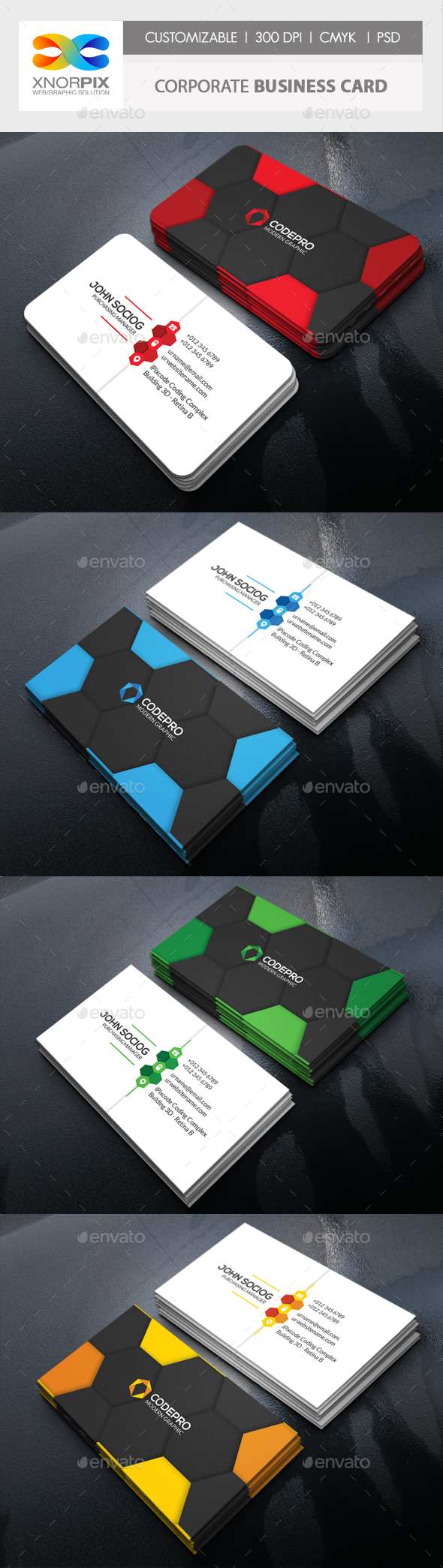 GraphicRiver Corporate Business Card 20679520