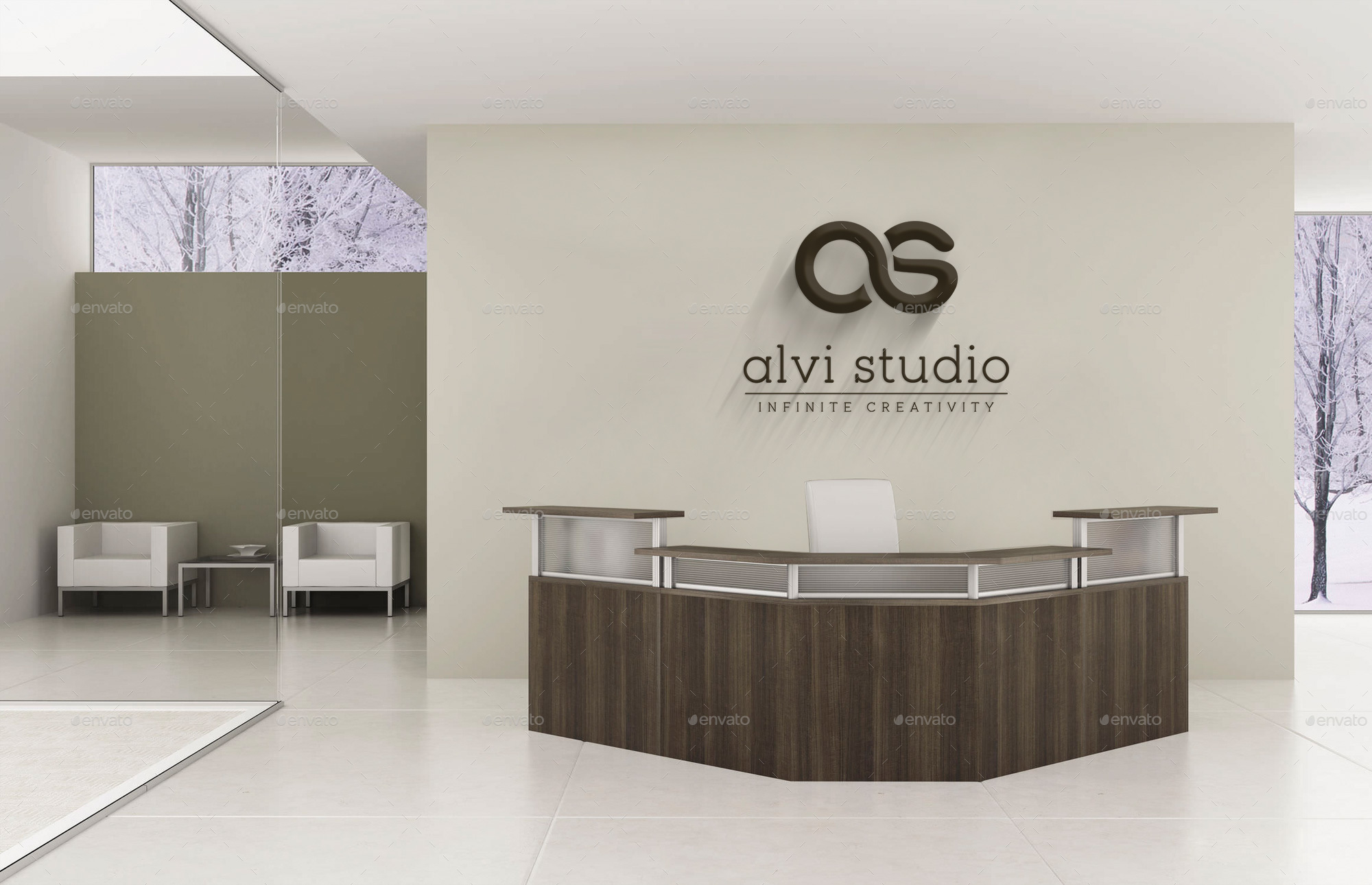 Office Logo Mock Up By Ahsan Alvi Graphicriver