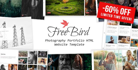 FreeBird - Photography Portfolio HTML Website Template - Photography Creative
